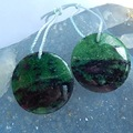 Natural Sale Cheap Stone Ruby And Zoisite Earring Beads 19*4mm,8.5g 1pair beautiful charming Earrings accessory