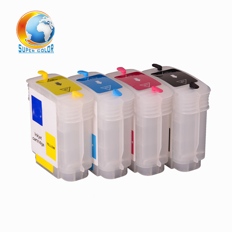 69ml 4 Colors For Hp 10 82 Cartridge For Hp Designjet 500 800 Refillable Ink Cartridge With Permanent Chips
