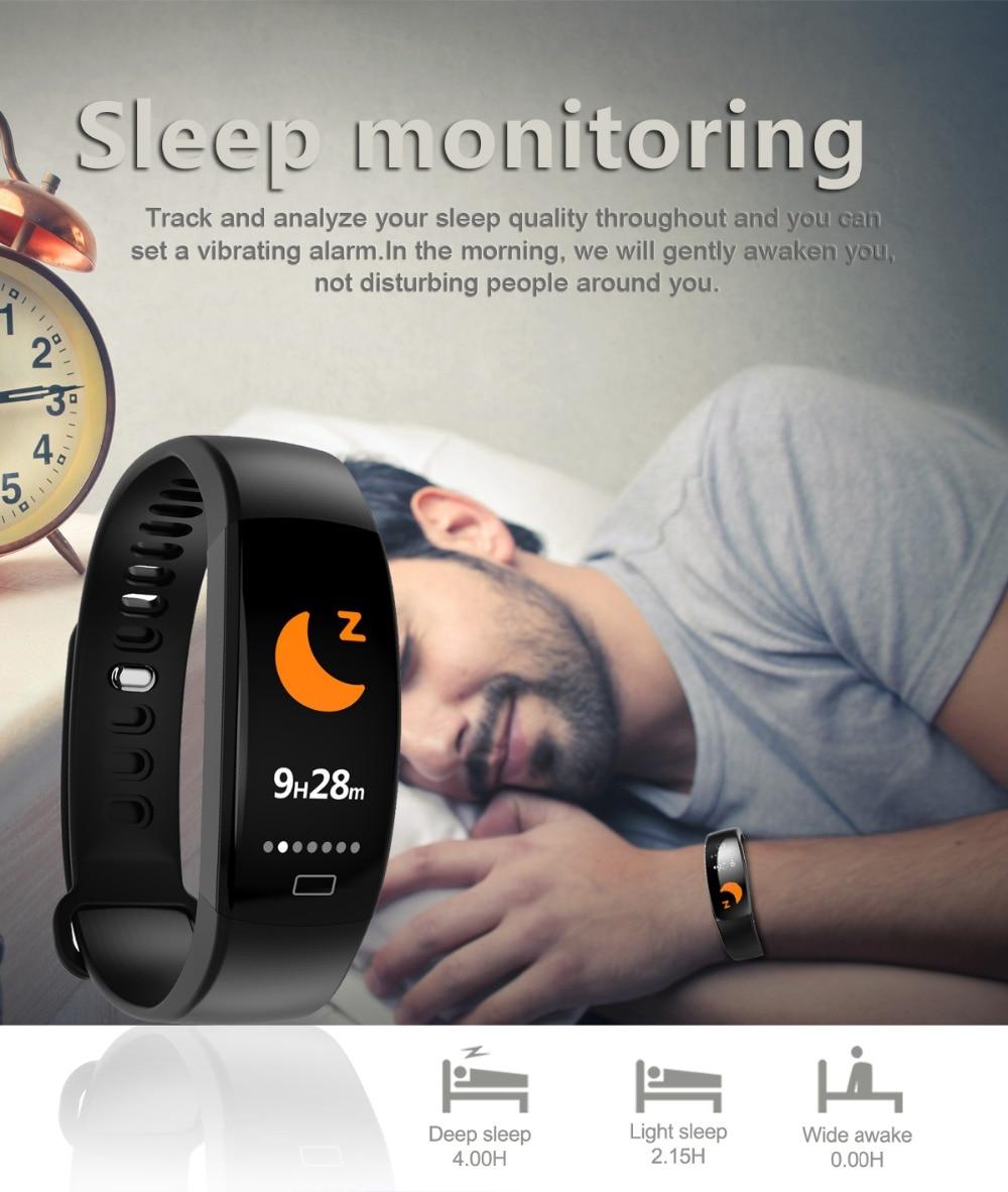 Smart Wristband 2018 Bracelet F64 Smartband gps waterproof sleep monitor Fitness Bracelet Smart Watch Call Alarm For iOS Android (6)