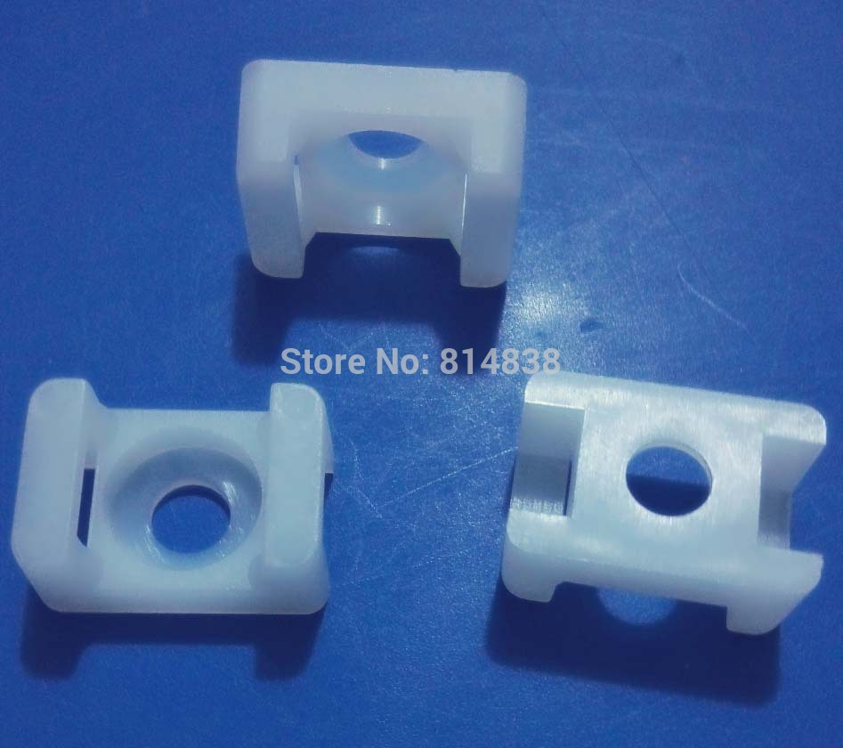 HC 1S White Saddle Type Tie Mount For 3 8mm Plastic Cable Tie