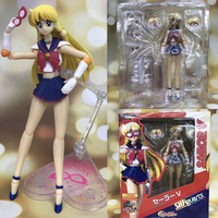 SHF SHFiguarts Sailor Moon Sailor Venus Movable PVC Action Figure Collection Model Kids Toy Doll 15cm