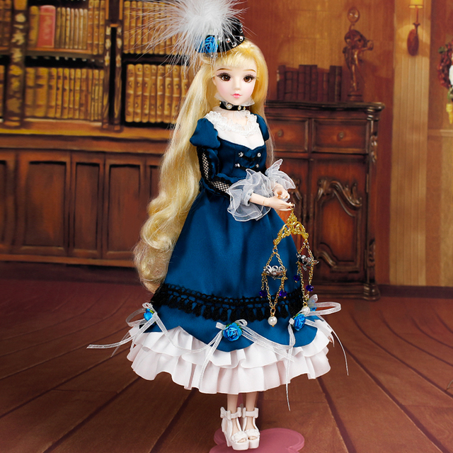 BJD Libra MMGirl 12 Constellations Series 14 Joint Body with Lolita Dress and doll Stand