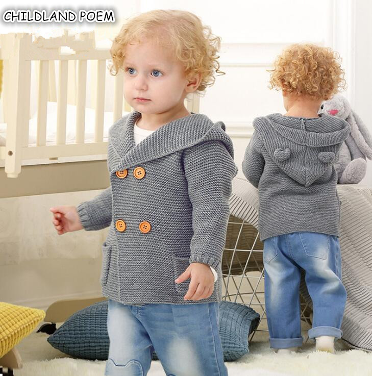 Baby Sweater For Boys Cardigan Autumn Hooded Knitted Baby Boys Jacket and Coat Toddler Kids Cardigan for Boys Baby Pullover 0-2YBaby Sweater For Boys Cardigan Autumn Hooded Knitted Baby Boys Jacket and Coat Toddler Kids Cardigan for Boys Baby Pullover 0-2Y