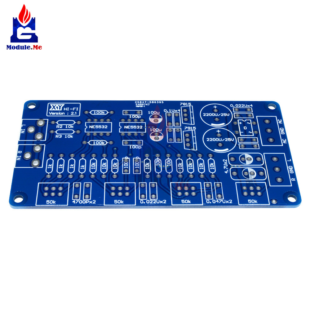 Ne5532 Volum Control Audio Power Amplifier Pcb Board Diy Kit Amplifierwith 1x