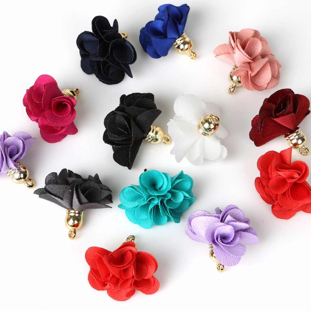 20x Fashion Flowers Tassel Charms Mixed Pendant Earring Findings DIY Jewelry