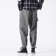 Summer Hip Hop pants men Streetwear Multi-Pockets Safari Style Fashion Cargo Pants New Cotton Casual Elastic Trousers Plus 5XL