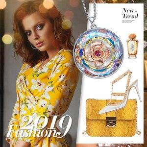 Image 5 - CDE collier dansant en Rose, orné avec cristal, pour femmes, collier I LOVE YOU gravé avec cristal, cadeaux pour la fête des mères