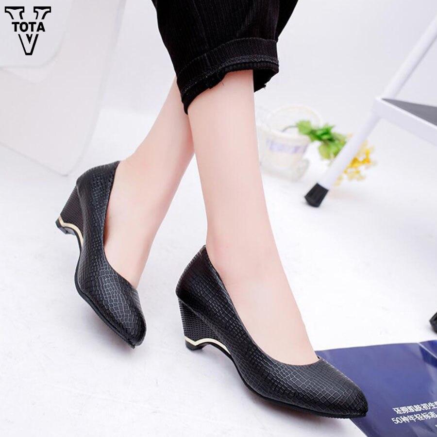 VTOTA moda bombas mujeres zapatos plataforma cuñas zapatos para ...