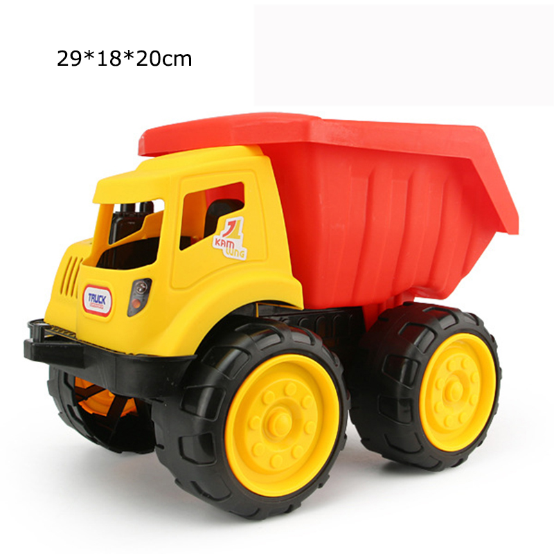 Big size Beach toy cars Engineering car vehicles truck excavator bulldozer model toys Classic Play house Toys kids Boy toys 4