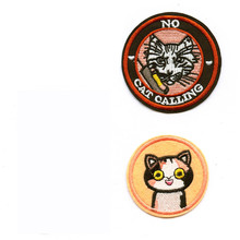 DOUBLEHEE 4 Animals The Cat And Snake Embroidered Iron On Patches For Clothing New Design Beauty Patch Sticker Badges diy