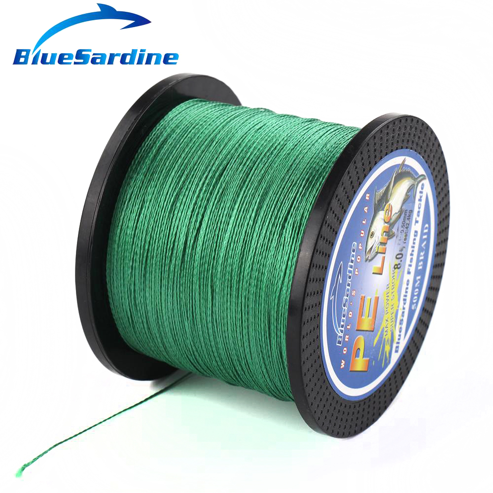 BlueSardine Green Braided Fishing Line 500M Multifilament PE Braid - თევზაობა - ფოტო 3
