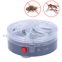 Round Shape Solar Powered Fly Zapper Wasp Moth Light Killing Garden Mosquito Killer Bug Trap Lamp Night Lighting