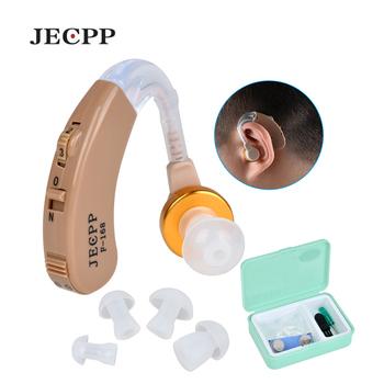 F-168 aparaty słuchowe BTE wzmacniacz głosu urządzenie regulowane wzmacniacz dźwięku słuchu apteczka pielęgnacja uszu tanie i dobre opinie JECPP Behind The Ear