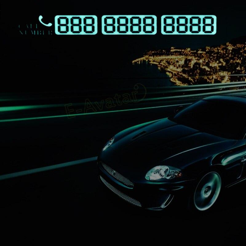 Car Styling Parking Notification Phone Number Card Luminous ...