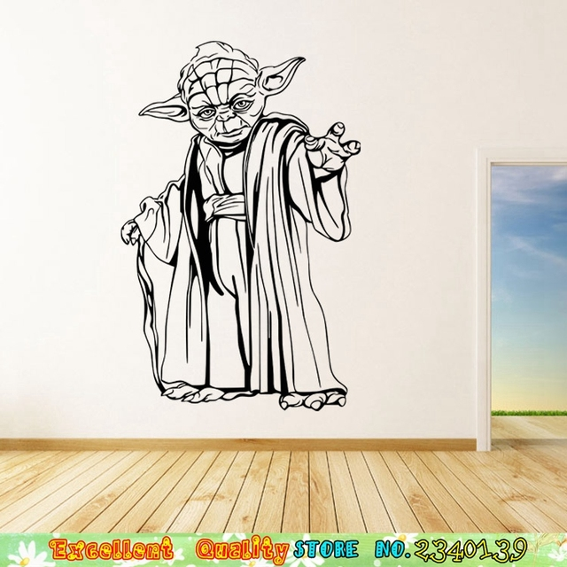 2 Arten Movie Star War Yoda Poster Wandaufkleber Für Jungen Wohnzimmer Schlafzimmer  Dekoration Wandtattoos Diy Sofa