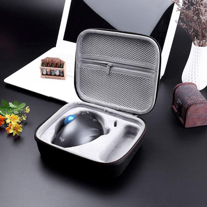 Travel Portable Hard EVA Case Carrying Bag Cover For Logitech MX Ergo Advanced Wireless Trackball Mouse Accessories