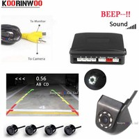 Koorinwoo Auto parking system Car Parking Sensors System Sound Show Distance Led Lights Night Vision Car Rear view camera Assist