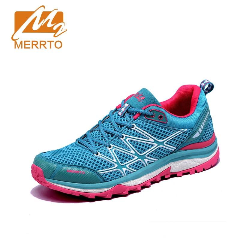4776ce0b6208 2018 Merrto женщины бег обувь легкий Бегун спортивные кроссовки дышащие  кроссовки для женщин Бесплатная доставка MT18593