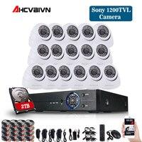 16CH CCTV System 1080P DVR 16CH CCTV Security Camera System 1200tvl indoor Day Night IR Camera Kit Video Surveillance System