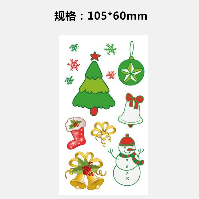 Christmas Tree Tattoo Small.Us 22 99 Color Christmas Tree Ornaments Snowman Character Small And Fresh Men And Women Waterproof Tattoo Sticker Pattern In Temporary Tattoos From