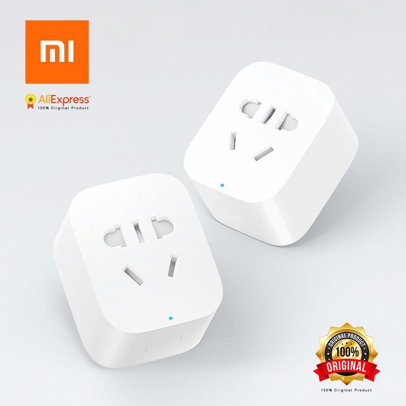 Original Xiaomi Smart Socket Plug Bacic WiFi Wireless Remote Socket Adaptor  Power On And Off With Phone ZigBee Version