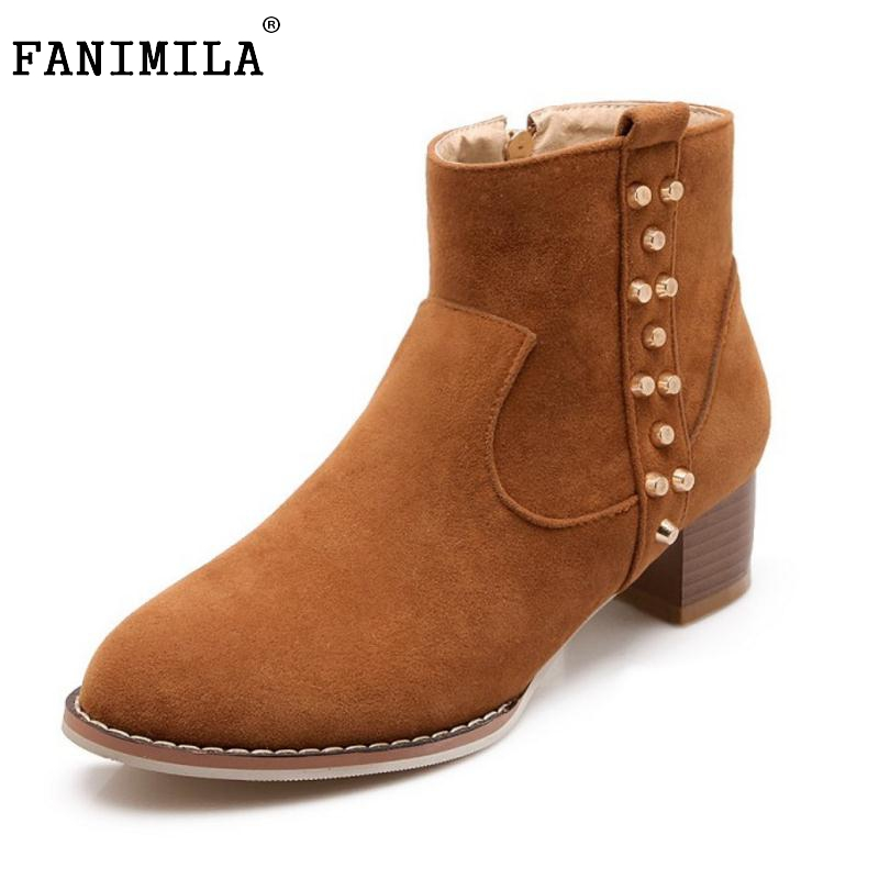 Women Low Square Heel Ankle Boots Woman Round Toe Martin Boots Fashion Winter Zipper Heeled Footwear Heels Shoes Size 34-43 enmayla ankle boots for women low heels autumn and winter boots shoes woman large size 34 43 round toe motorcycle boots