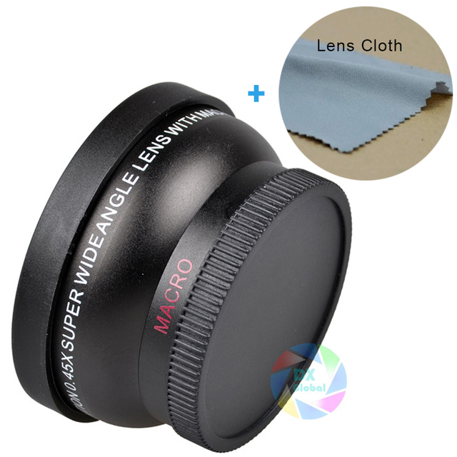 55MM 0.45x Wide Angle Macro Lens High Resolution Wide Deluxe Digital Lenses for Canon NikonSony Camera of 55mm Diameter