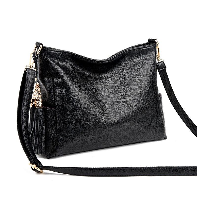 2017 Fashion Women Bag Female Big Shoulder Bags Genuine Leather Handbags Famous Brand Tassel Tote Bag Ladies Casual Bolsos Mujer