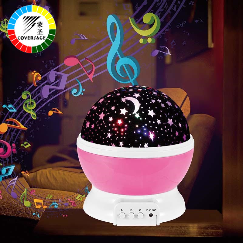 Coversage Music Rotating Night Light Projector Spin Starry Star Master Children Kids Baby Sleep Romantic Led Usb Lamp Projection Mega Sale 6144b Cicig