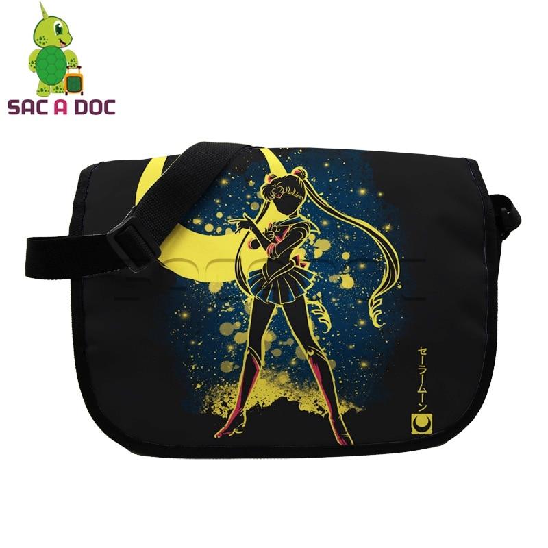Impartial Anime Sailor Moon Fluorescence Messenger Bag Kawaii Tsukino Usagi Luna School Shoulder Bag For Teens Women Crossbody Handbag Attractive Fashion Luggage & Bags Men's Bags