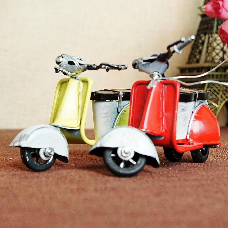 Retro dzelzs mini motocikls Romantisks dzimšanas dienas dāvanu - Mājas dekors - Foto 1
