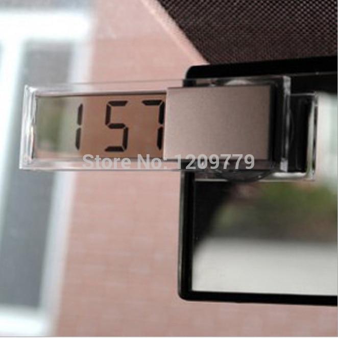 Nuevo Mini Durable Transparente Display LCD Digital de Coches Reloj Electrónico