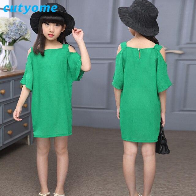 Vestido verde recto