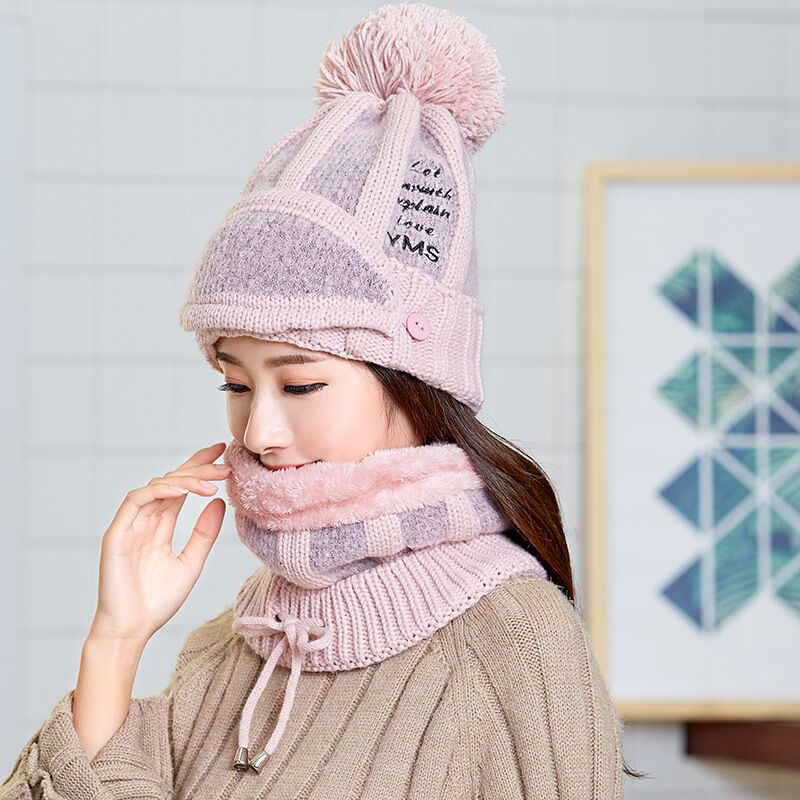 New Knit Ski Hat Scarf Neck Warm   Skullies     Beanies   Winter Snowmobile Lady   Beanie   Hat Thicken Mask Bib