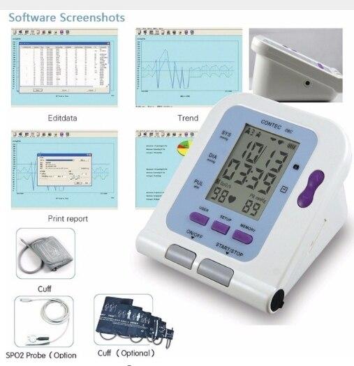 Nouveau CE FDA numérique tensiomètre USB logiciel CD inclus CONTEC08C BP moniteur, Tensiomete