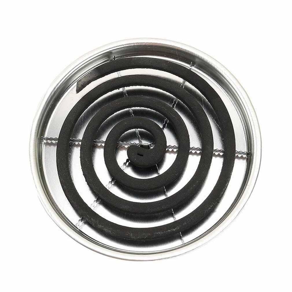 Support de bobine de moustique bobines Anti-moustique plateau avec couvercle inoxydable Anti-Plaque moustique boîte d'encens