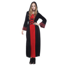 Adult Gothic Mistress Victorian Vampiress Cosplay Costume for Women Fantasia Halloween Carnival Mardi Gras Party Dress