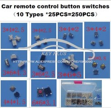 10 Types 25PCS Tactile Push Button Switch Micro Switch Car remote control button switches For Honda