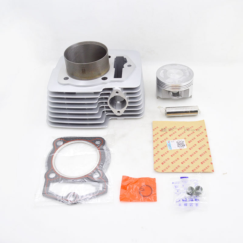 High Quality Motorcycle Cylinder Kit 63.5mm Bore 196cm3 For Lifan CB200 CB 200 200cc Engine Spare Parts high quality motorcycle cylinder kit for