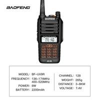 פלוס uv Baofeng UV-9R פלוס Waterproof ווקי טוקי כף יד 8Watts UHF VHF Dual Band IP67 HF משדר UV 9R Ham Radio נייד (2)