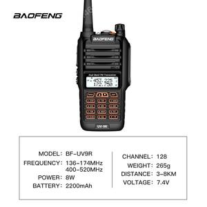 Image 2 - De BaoFeng UV 9R Plus resistente al agua de mano Walkie Talkie 8 vatios doble banda UHF, VHF IP67 transceptor HF UV 9R jamón portátil radio