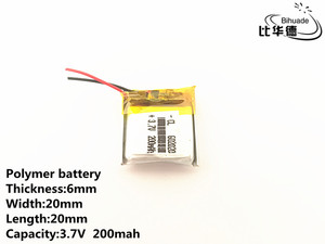 Image 4 - 1pcs/lot 3.7V,200mAH,602020 Polymer lithium ion / Li ion battery for TOY,POWER BANK,GPS,mp3,mp4