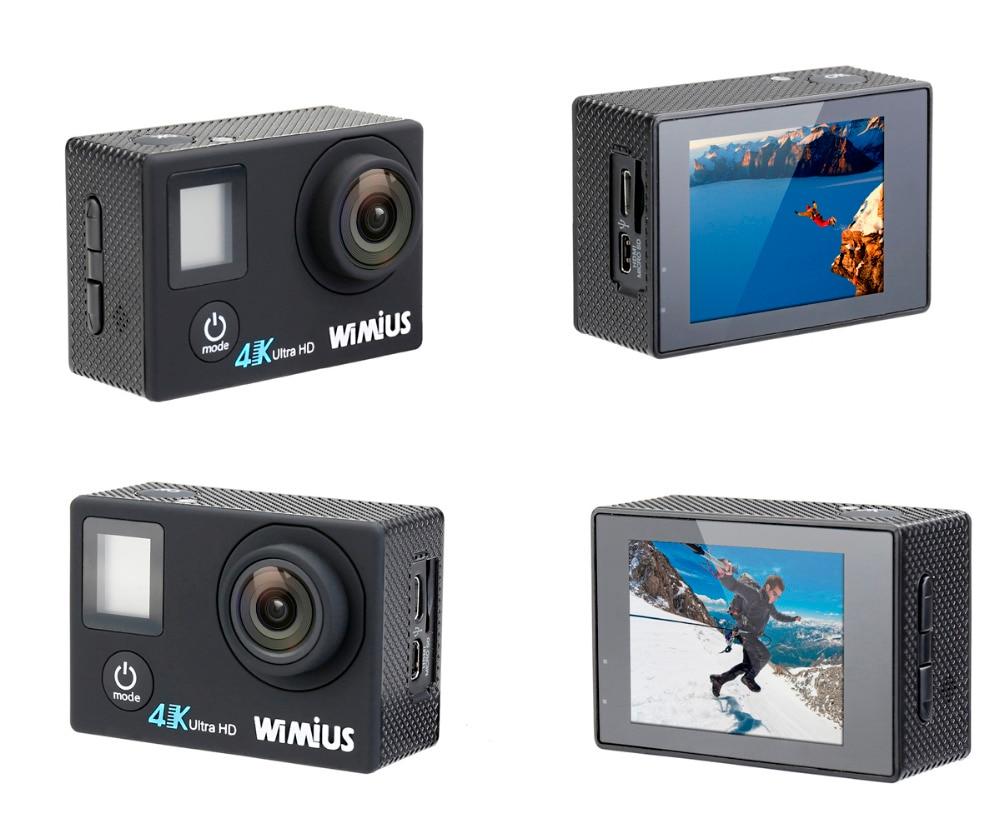 Wimius Q4 Sports Action Camera 4k 30fps Wifi Ultra Hd 1080p 16mp Kamera Sport Go Pro Kogan Dual Screen Waterproof 40m Video Car Helmet Camcorder In