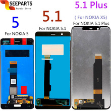 ใหม่สำหรับ Nokia 5.1 จอแสดงผล LCD หน้าจอสัมผัสสำหรับ Nokia 5.1 PLUS LCD 5 X5 หน้าจอเปลี่ยน TA 1024 1027 1044 1053 1008 1030 1109