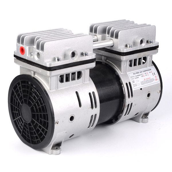 HYW-550 AC110/220v 550w Two Cylinder Rocking Oilless Piston Compressor Pump With 67L/min Flow
