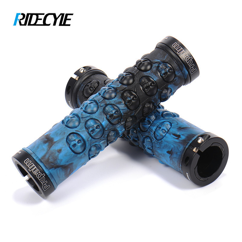 RIDECYLE Cycling Grips Mountain Bike Handle Rubber Grips Anti-skid Ergonomics 5 Colors Bicycle Handlebar грипсы ethic rubber grips blue