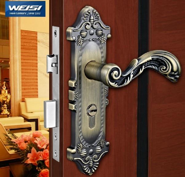 Antique copper handle lock,European door lock, interior door locks ...