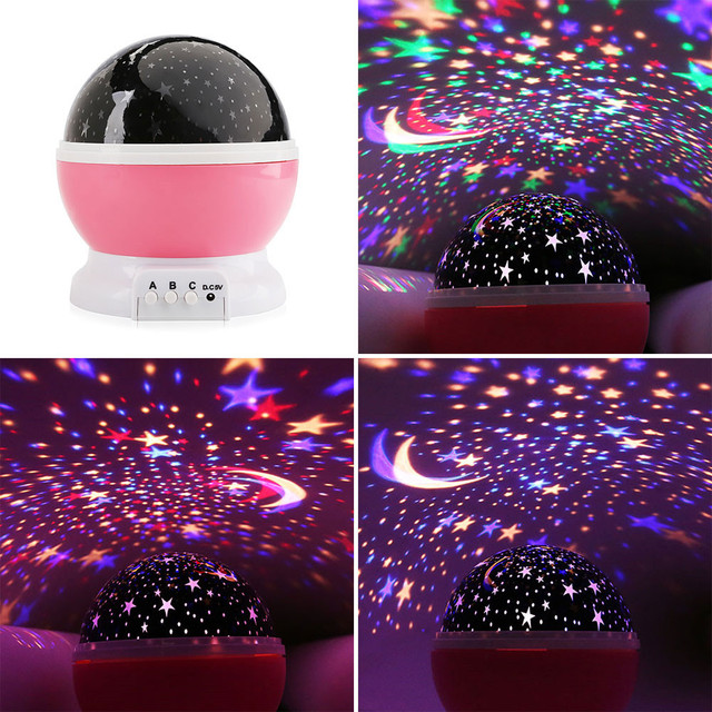 AGM Stars Starry Sky LED Night Light Star Projector Moon Table Lamp Lights Luminaria Novelty Nightlight For Kids Children Baby