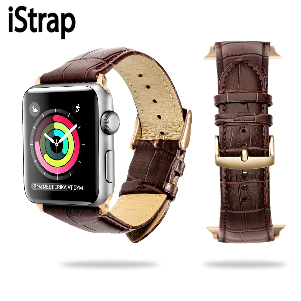 iStrap Genuine Leather WatchStrap Replacement  Bracelet  forIwatch for Apple Watch Band Series2 1 for Apple Watch Bands 38mm42mm istrap 22mm handmade genuine calf leather padded replacement watch band for men black 22