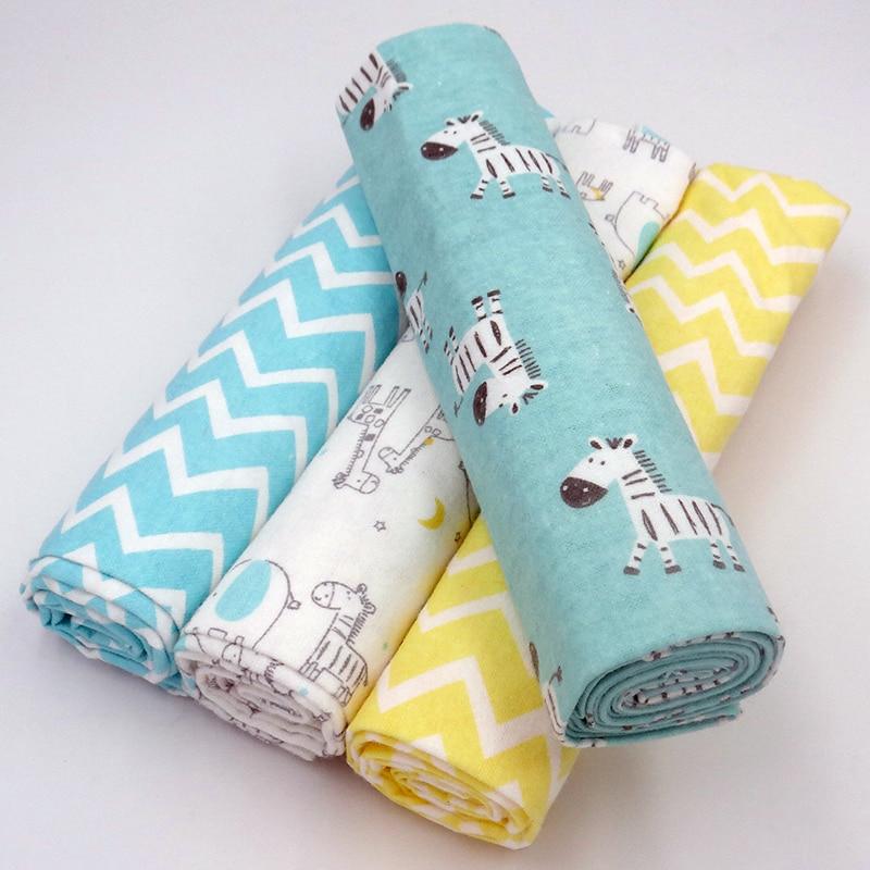 Newborn Baby Bed Sheet Bedding Set 76x76CM For Newborn Crib Sheets Cot Linen 100% Cotton Flannel Printing Baby Bedding Blanket